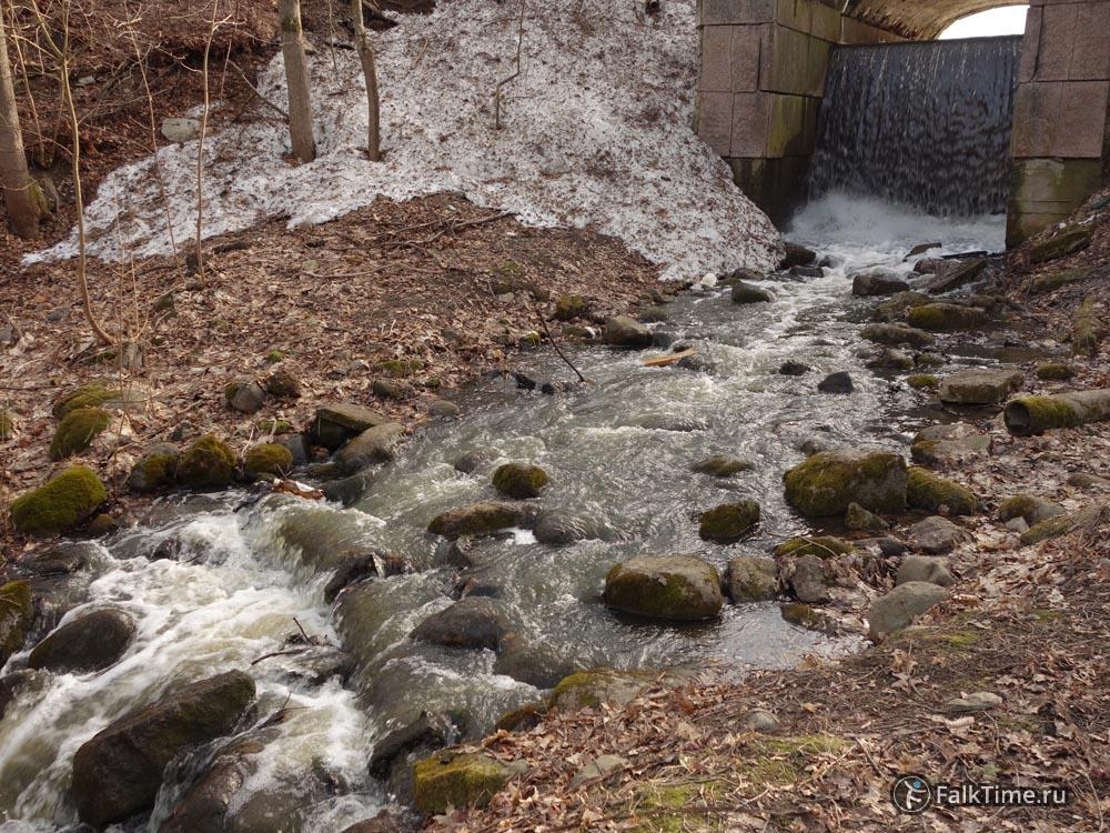 Водопад, мост-плотина